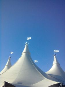 Cavalia's White Big Top in St. Louis
